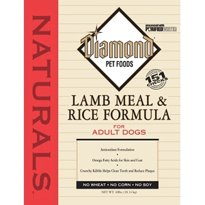 Diamond Naturals Lamb & Rice Adult Dog Formula, 40 lb