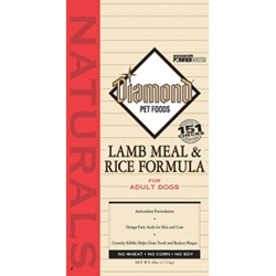 Diamond Naturals Lamb & Rice Adult Dog Formula, 6 lb - 6 Pack