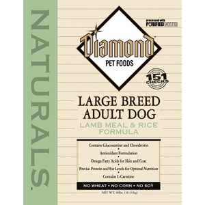 Diamond Naturals Large Breed Lamb & Rice Adult Dog Formula, 40 lb
