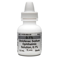 Diclofenac 0.1% Ophthalmic Solution, 2.5 ml