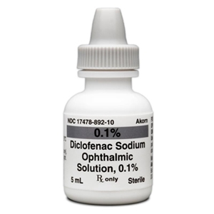 Diclofenac 0.1% Ophthalmic Solution, 5 ml