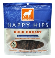 Dogswell Happy Hips Dog Treats, Duck Jerky, 15 oz