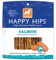 Dogswell Happy Hips Dog Treats, Salmon Jerky, 15 oz
