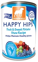 Dogswell Happy Hips Grain-Free Canned Dog Food, Duck & Sweet Potato Stew, 12.5 oz, 12 Pack