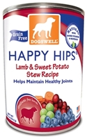 Dogswell Happy Hips Grain-Free Canned Dog Food, Lamb & Sweet Potato Stew, 12.5 oz, 12 Pack