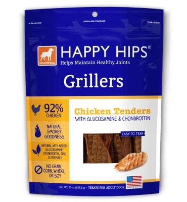 Dogswell Happy Hips Grillers, Chicken Tenders, 15 oz