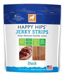Dogswell Happy Hips Jerky Strips, Duck, 12 oz