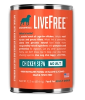 Dogswell LiveFree Grain-Free Canned Dog Food, Adult Chicken Stew, 12.5 oz, 12 Pack