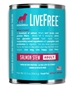 Dogswell LiveFree Grain-Free Canned Dog Food, Adult Salmon Stew, 12.5 oz, 12 Pack