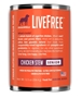 Dogswell LiveFree Grain-Free Canned Dog Food, Senior Chicken Stew, 12.5 oz, 12 Pack