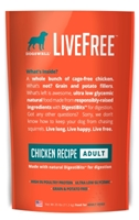 Dogswell LiveFree Grain-Free Dry Dog Food, Adult Chicken Recipe, 25 lbs