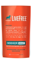 Dogswell LiveFree Grain-Free Dry Dog Food, Adult Chicken Recipe, 4 lbs