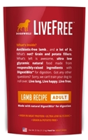 Dogswell LiveFree Grain-Free Dry Dog Food, Adult Lamb Recipe, 25 lbs