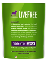 Dogswell LiveFree Grain-Free Dry Dog Food, Adult Turkey Recipe, 12 lbs
