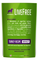 Dogswell LiveFree Grain-Free Dry Dog Food, Adult Turkey Recipe, 25 lbs