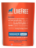 Dogswell LiveFree Grain-Free Dry Dog Food, Puppy Chicken Recipe, 12 lbs