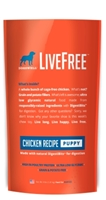 Dogswell LiveFree Grain-Free Dry Dog Food, Puppy Chicken Recipe, 4 lbs