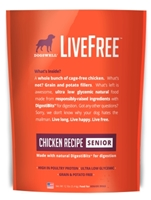 Dogswell LiveFree Grain-Free Dry Dog Food, Senior Chicken Recipe, 12 lbs