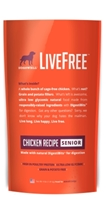 Dogswell LiveFree Grain-Free Dry Dog Food, Senior Chicken Recipe, 4 lbs