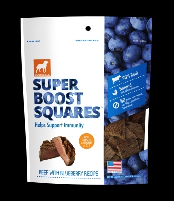 Dogswell Super Boost Squares, Beef & Blueberry, 5 oz