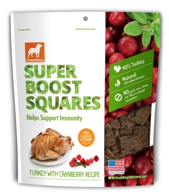 Dogswell Super Boost Squares, Turkey & Cranberry, 12 oz