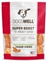 Dogswell Super Boost Veggie Chew Dog Treats, Chicken, 15 oz