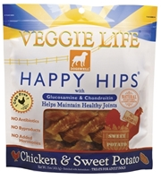 Dogswell Veggie Life Happy Hips Dog Chews, Chicken & Sweet Potato, 5 oz