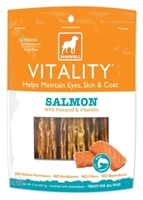Dogswell Vitality Dog Treats, Salmon Jerky, 5 oz