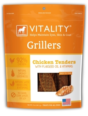 Dogswell Vitality Grillers, Chicken Tenders, 5 oz