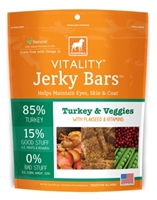 Dogswell Vitality Jerky Bars, Turkey & Veggies, 5 oz