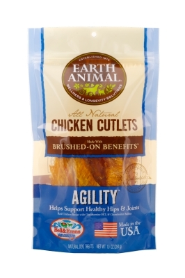 Earth Animal All Natural Agility Chicken Cutlets, 10 oz