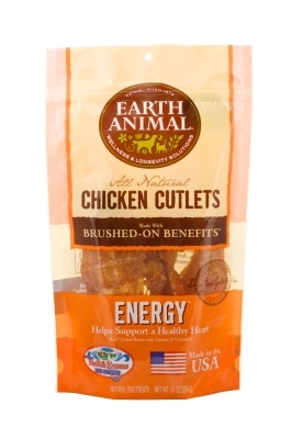 Earth Animal All Natural Energy Chicken Cutlets, 10 oz