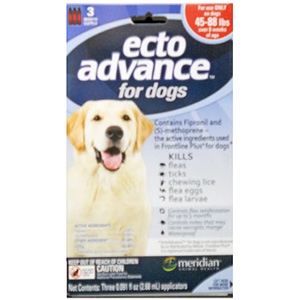 EctoAdvance For Dogs & Puppies 45-88 lbs, 3 Month Supply
