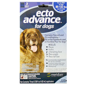 EctoAdvance For Dogs & Puppies 89-132 lbs, 6 Month Supply