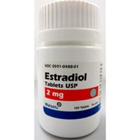 Estradiol 2 mg, 100 Tablets