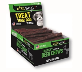 Etta Says Crunchy Premium Deer Chews, 4 in, 36 ct
