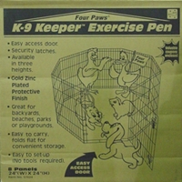 "Exercise Pen Gold-Zinc, 24"" x 24"""