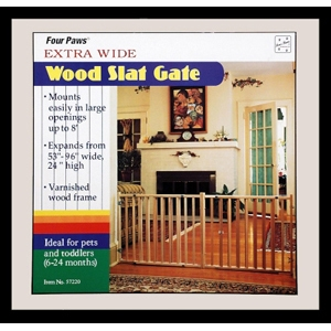 "Extra Wide Wood Slat Gate, 53"" x 24"""