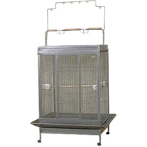 "EZ Care Playtop Cage for Large Birds, 49"" x 39"" x 71"""