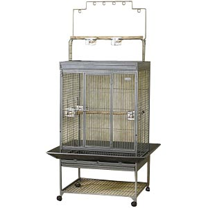 "EZ Care Playtop Cage for Medium Birds, 41"" x 32"" x 65"""