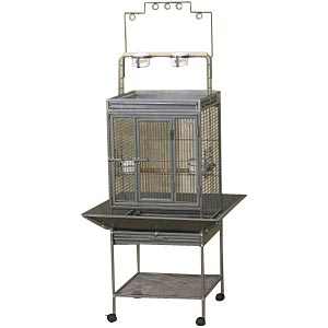 "EZ Care Playtop Cage for Small Birds, 18"" x 18"" x 41"""