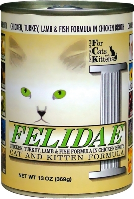 Felidae Cat and Kitten Canned Food, Chicken Turkey Lamb & Fish, 13 oz, 12 Pack