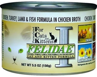 Felidae Cat and Kitten Canned Food, Chicken Turkey Lamb & Fish, 5.5 oz, 12 Pack