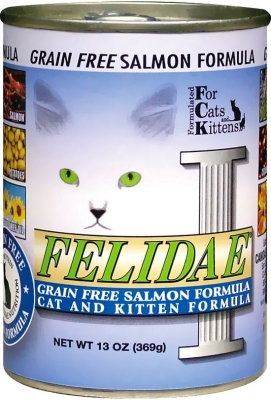 Felidae Grain-Free Cat and Kitten Canned Food, salmon, 13 oz, 12 Pack