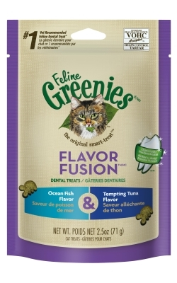 Feline Greenies Ocean Fish & Tempting Tuna Combo, 2.5 oz
