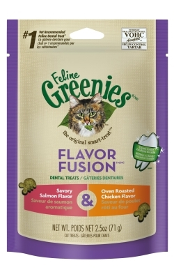 Feline Greenies Oven Roasted Chicken & Savory Salmon Combo, 2.5 oz