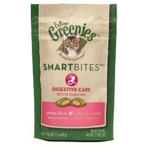 Feline Greenies SmartBites Digestive Care Salmon Flavor, 2.1 oz
