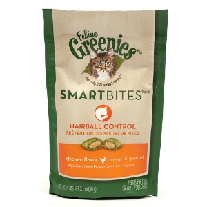Feline Greenies SmartBites Hairball Control Chicken Flavor, 2.1 oz