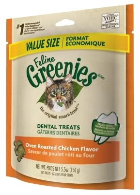 Feline Greenies Value Size Oven Roasted Chicken Flavor, 5.5 oz