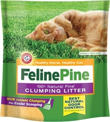 Feline Pine Clumping Cat Litter, 14 lbs - 2 Pack